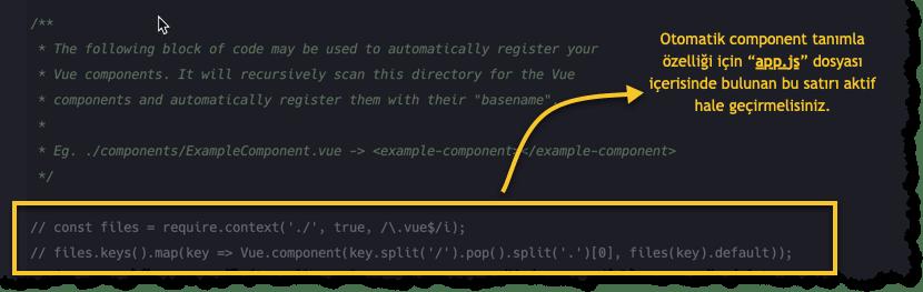 component tanımlama