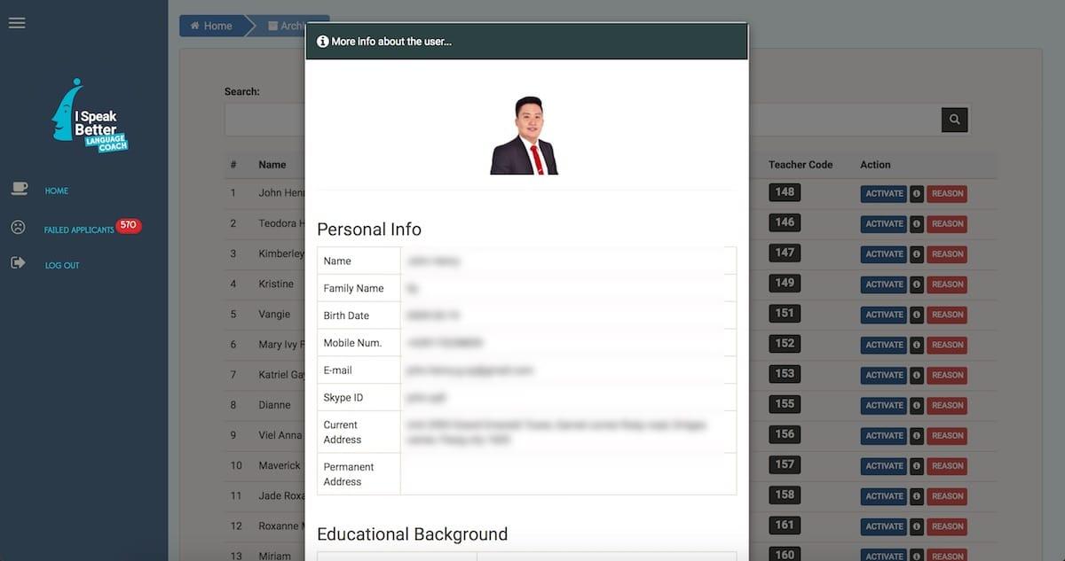 recruitment.ispeakbetter.com website