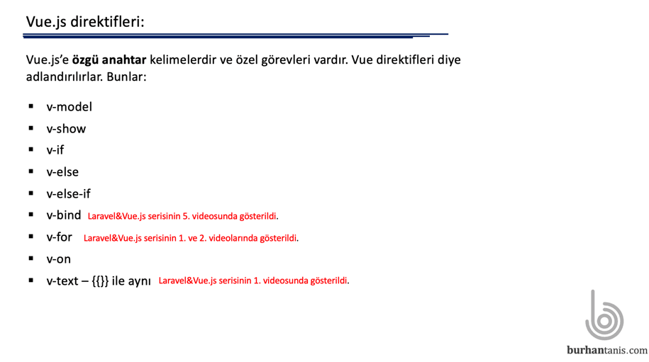 vue.js direktifleri
